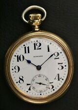 Running E. Howard Keystone Series 11 Model E 21J 16S Railroad Grade Pocket Watch