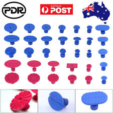 33× Paintless Dent Repair PDR Tools Glue Puller Tabs Hail Removal Red & Blue Kit