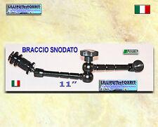 """BRACCIO SNODATO DA 11""""  SUPPORTO UNIVERSALE PER MONITOR"""