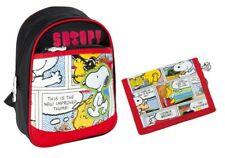 Snoopy Kinder Rucksack 26 cm + Snoopy Geldbörse im Set Peanuts NEU