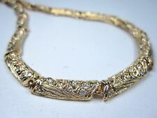 "Crystals - 16-17.5"" Length 0817 D'Orlan Gold Plated Necklace with Swarovski"
