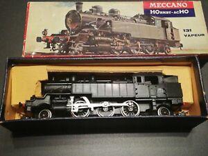 HOrnby acHO  Meccano Loco vapeur 131 TB 42  HO + boite bel état manque 1 tampon