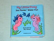 Vtg 1985 Hasbro My Little Pony Sea Ponies Water Fun Kids Bath Book vinyl