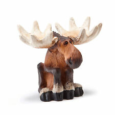 Big Sky Carvers It's a Moose Life Sitting Mini Moose Figurine Phyllis Driscoll