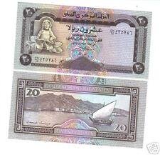 Yemen Billet  20 Riyals STATUS / PORT  UNC NEUF