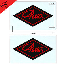 Stationary Engine Transfer - Petter Black Diamond With Red Copy (x2 - a pair)