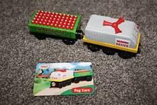 Thomas the Train & Friends Wooden Blasting Cap Fog Horn Cars Card Set RARE 2003