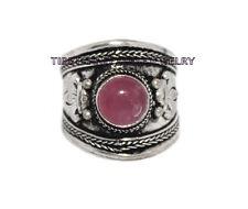 Adjustable Rose Quartz Ring Boho ring Nepal ring Tibetan ring Tibet Ring RB81