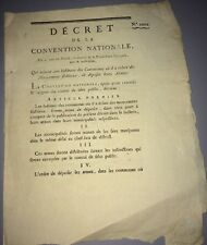 Document Révolutionnaire Sur Les Mouvements Séditieux    1794