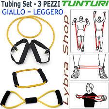 Tunturi TUBING SET 3 tubi elastici GIALLO LIGHT fitness pilates gym resistance