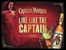 Captain Morgan especiadas Ron, Retro Letrero De Metal/Barra Pub Placa Pared Cueva de hombre