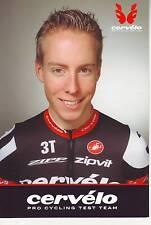 CYCLISME carte cycliste MARCEL WYSS équipe CERVELO