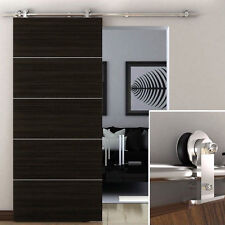 6.6 FT Modern Sliding Door Hardware Kit Stainless Steel Barn Door Track Set FSas