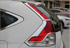 ABS Chrome Rear Tail Light Lamp Cover Trim 4pcs For Honda CR-V CRV 2012-2014