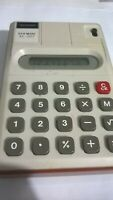 VINTAGE SHARP ELSI MATE EL-207 CALCULATOR WORKING WITH BATTERY MADE IN JAPAN