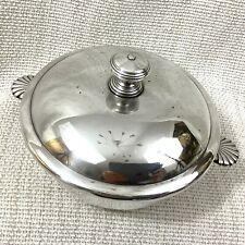 More details for antique christofle silver plate serving bowl small tureen lidded pot vendome