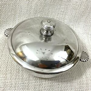 Antique Christofle Silver Plate Serving Bowl Small Tureen Lidded Pot Vendome