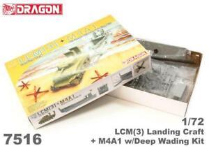 Dragon 7516 1/72 LCM(3) Landing Craft + M4A1 w/Deep wading Plastic Model Kit