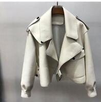 2019-20 Designer Inspired Real Sheepskin Leather Oversized Biker Jacket Coat