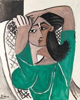 """PABLO PICASSO Poster or Canvas Print """"Femme se coiffant"""""""