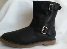 MADEWELL womens warm boots, size 9. black, buckle.