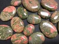 - Unakite Bulk Wholesale Cabochon Lot 50 Grams 3 to 6 pcs Polished Stones