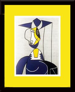 ROY LICHTENSTEIN - 'Femme Au Chapeau' Custom Framed Print