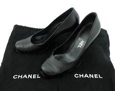 Chanel PUMPS 36,5 Scarpe Nere Tacco alto stiletto SHOES molto bene