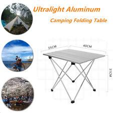 Ultralight Aluminum Camping Folding Table Outdoor Picnic Beach BBQ w/ Carry Bag