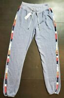 Sundry Women's Embroidered Sweatpants 0  or 3 Blue Gray Anthropologie NWT FAST