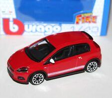 Burago-Fiat Abarth Grande Punto 2014 (Rojo) - 'STREET Fuego Modelo Escala 1:43)
