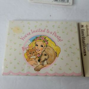 Barbie You're Invited to a Party  8 Party Invitations Pack Of 8 Hallmark 1983