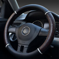 PU Leather Car Steering Wheel Cover Red Ice Silk Hollow out design Car Universal