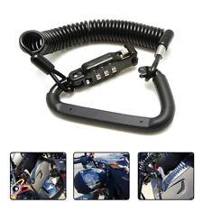 Motorcycle Helmet Lock & Black Tough Combination PIN Locking Carabiner Device