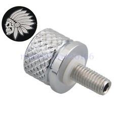 8mmThread Quick Release Screw Chrome Skull Chief RearSeat Bolt  For Indian Scout