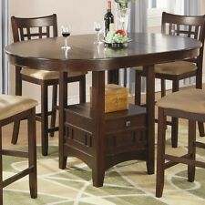 Casual Dining Counter Height Table Dark Cherry Coaster 100888N