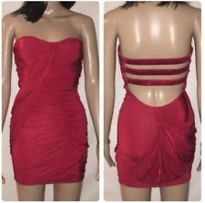 Bebe Sexy Red Strapless Mini Dress Strappy Back Size XXS Free Ship