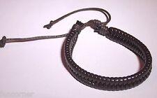 Californication bracelet en cuir Hank moody marron Moody leather brown bracelet