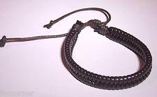 Californication bracelet en cuir Hank moody marron Moody leather brown bracelet