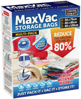 MaxVac 6 Pack Vacuum Storage Bags for Duvets Blankets Bed Sheets Clothes