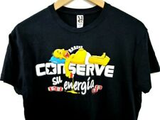 Homer Simpson T-Shirt Top Unisex Black Size M Simpsons Duff Beer Conserve Roly