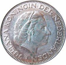 NIEDERLANDE KM 185   2 1/2 Gulden  1961 in VZ  2502001