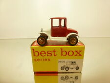 BESTBOX 2505 FORD model T 1919 2-SEATER WHITE + RED L5.0cm - GOOD COND. IN BOX