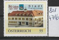 Österreich PM personalisierte Marke 80 Jahre Stadt TRAISKIRCHEN 8014716 **
