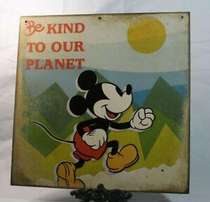 MICKEY MOUSE Retro Handmade WALT DISNEY vintage sign