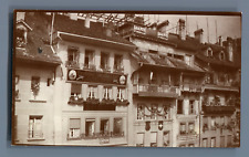 Suisse, Vieilles maisons à Berne  Vintage citrate print. Vintage Switzerland