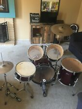 Slightly-Used Ludwig 5-Piece Wine Red Junior Drum Set