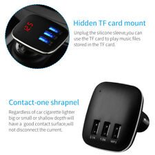 Bluetooth FM Transmitter Wireless MP3 TF Radio Adapter USB Charger Car Kit