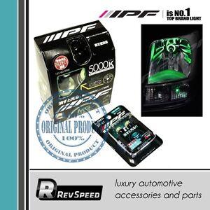 IPF Japan H4 Halogen T10 W5W LED Combo Set Glowing Green Halo Illuminated MG