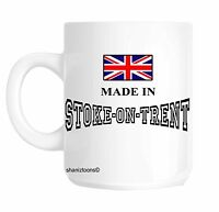 Made Born In Stoke on Trent Birthday Gift Mug shan694
